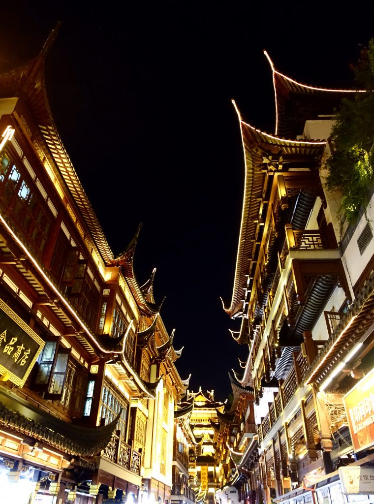 Picture of Chinese style buildings at night