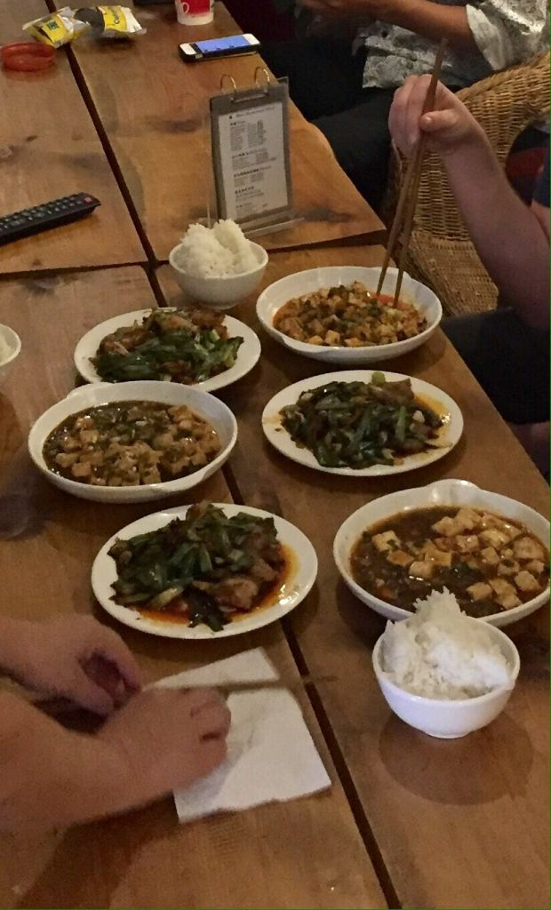 Picture of completed sichuan dishes