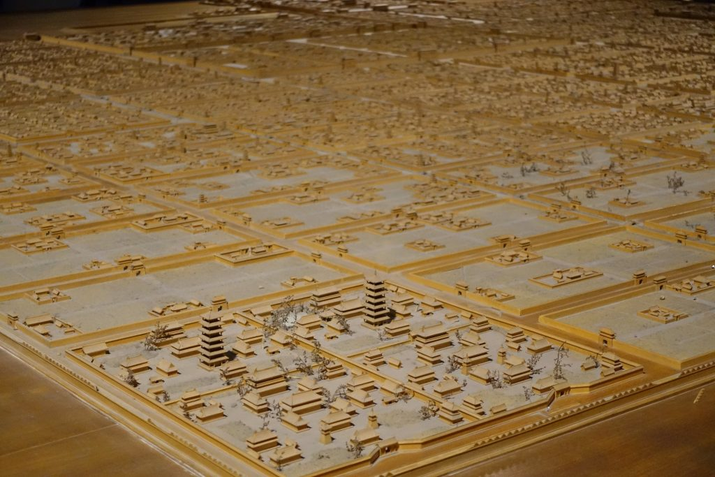 picture of model of xian at xian musium