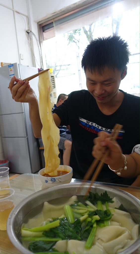 picture of very long abd thick noodles