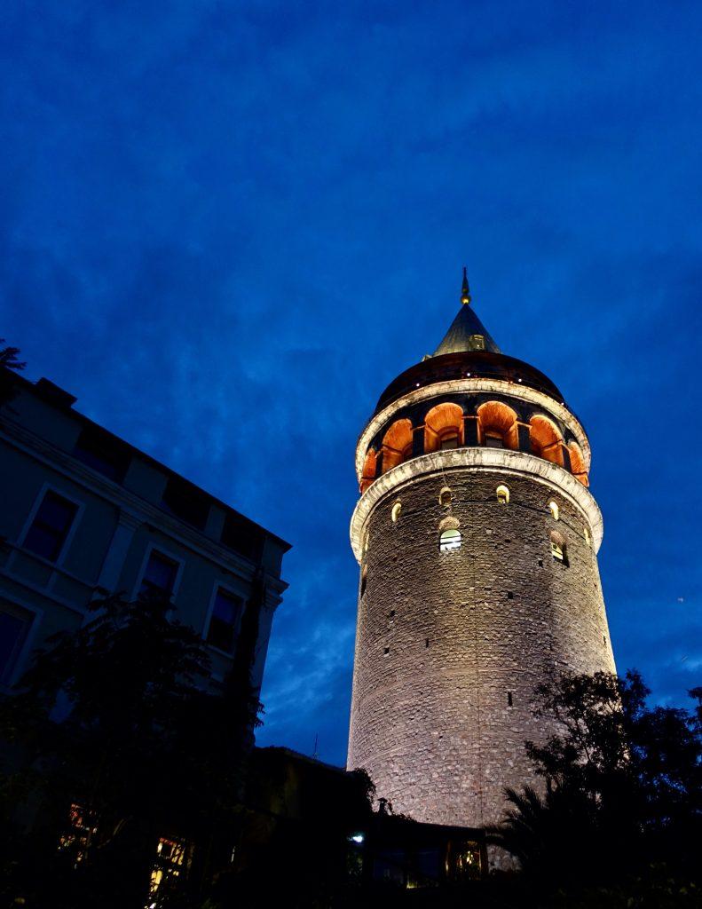 Gelata Tower at night