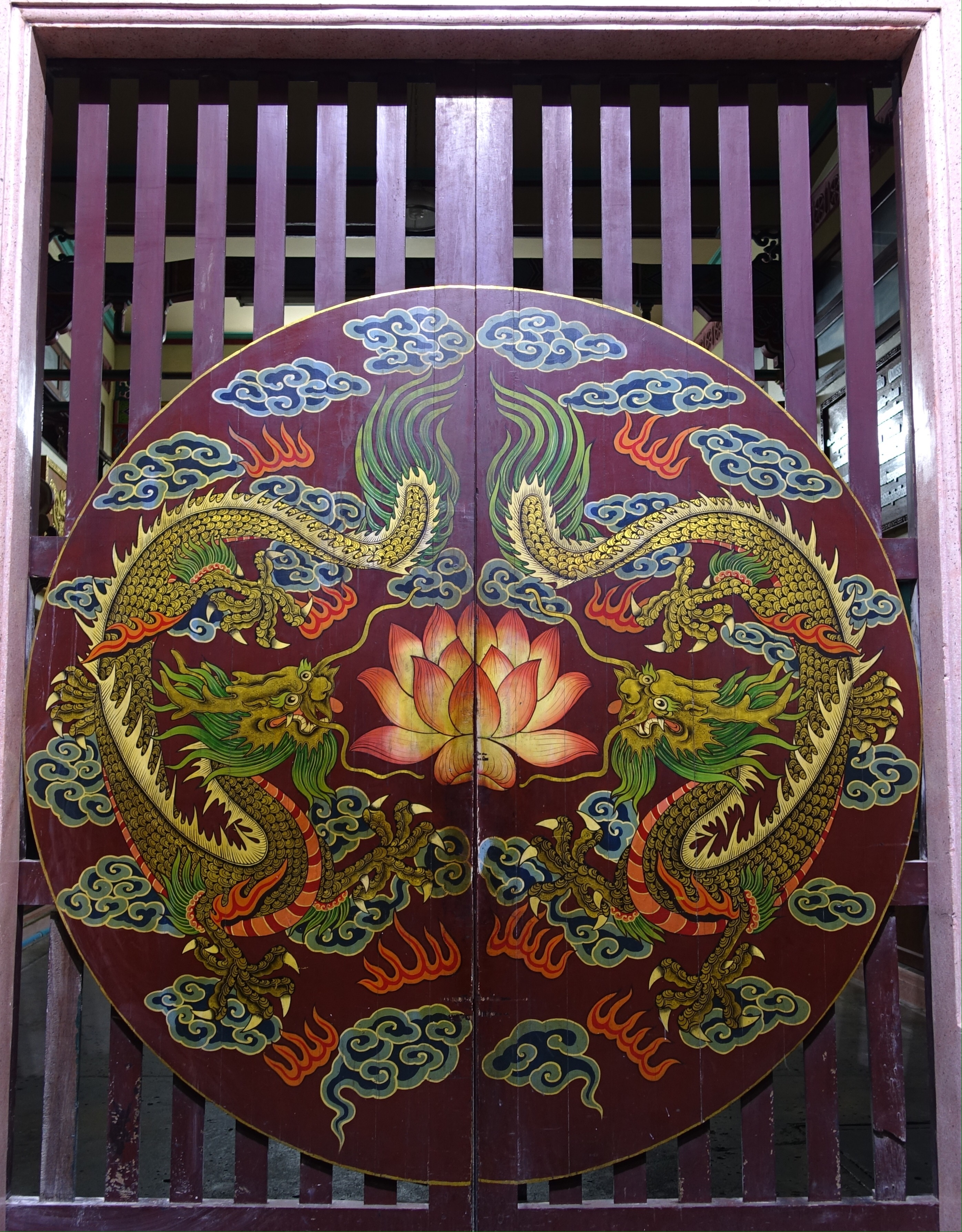 Painting on gate of temple