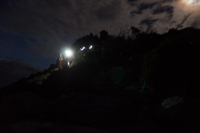 Blurry night photo